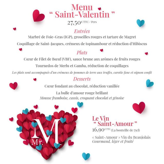 Commandez votre menu pour la Saint-Valentin avec @monsieurmtraiteur 😍 - 02 99 92 09 70 ou contact@mrmtraiteur.com #saintvalentin #traiteurrennes #menusaintvalentin #saintvalentinaemporter #mrmtraiteur