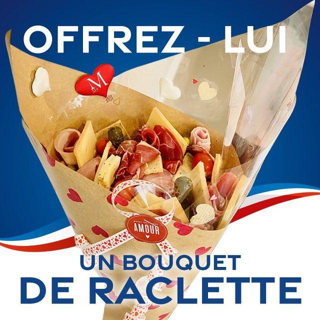 """💖Pour la Saint-Valentin, faites dans l'originalité et offrez-lui un """"Menu à partager"""" avec : LE Bouquet de Raclette ! 😋  C'est une 2ème formule proposée par Monsieur M - Traiteur pour la Saint-Valentin : """"Le Menu à Partager"""" - 48,00€ TTC pour 2 personnes (soit 24,00€/Pers) - Bouquet de Raclette + Dessert.  Commande à passer au 02 99 92 09 70 ou par mail à contact@mrmtraiteur.com au plus tard pour Mercredi 10 Février à 15H00. Les menus sont à venir retirer le Samedi 13 Février 2021 dans nos locaux de 11H00 à 17H00.  #saintvalentin #casserlescodes #saintvalentinaemporter #traiteurrennes #mrmtraiteur"""