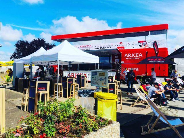 Nous accompagnons @arkeasamsic sur les étapes du Tour de France 2021. Espaces réceptifs VIP au cœur du @tdf_2021 ! #tdf2021 #traiteurevenementiel #journeevip  #mrmtraiteur